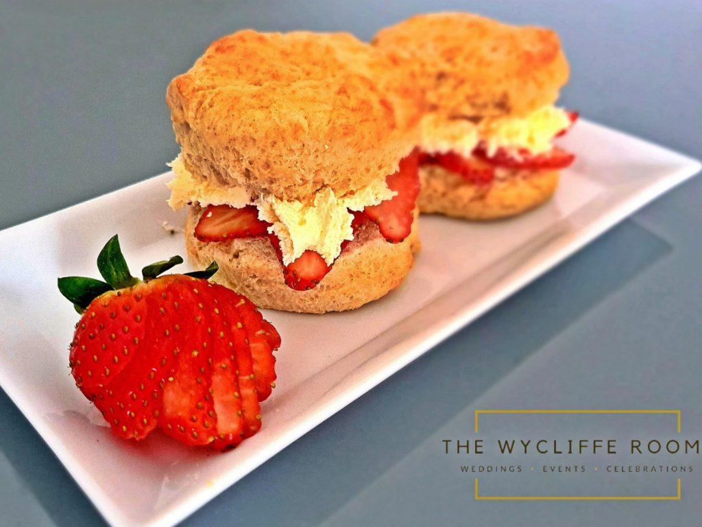 Fresh Cream and Strawberry Filled Scone